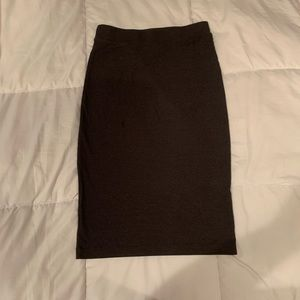 Divided Skirts - Grey Ribbed Pencil Skirt | Size Large